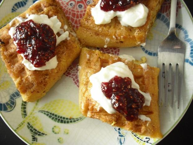 Waffled french toast jam